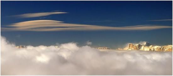 Le Vercors depuis Chamrousse - 12 decembre 2008