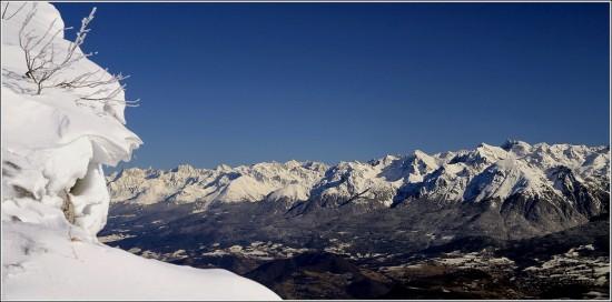 Belledonne depuis le plateau des Ramées - 25 janvier 2009