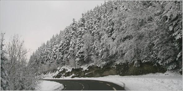 Route de St Nizier - Lans en Vercors - 1er Mars 2011