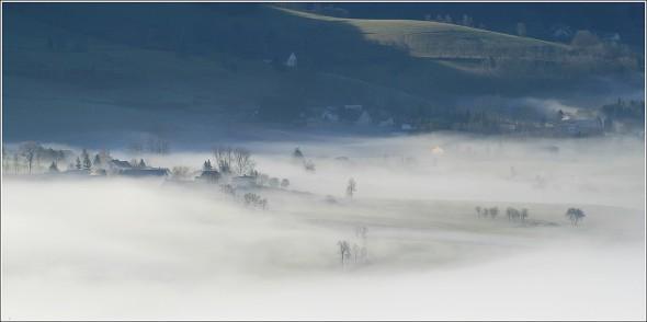 Brumes sur le plateau du Vercors - 2 avril 2011