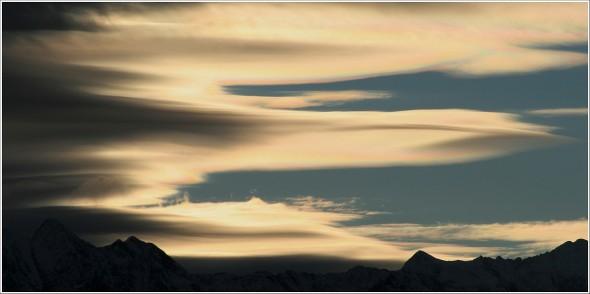 Le ciel au dessus du Taillefer - 20 décembre 2010