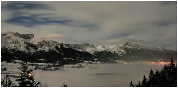 Plateau du Vercors - Soir du 2 décembre 2009