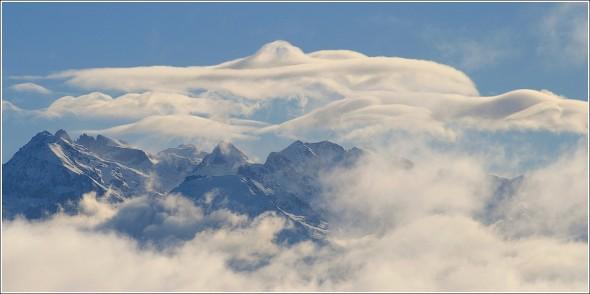 Massif de Belledonne depuis le Vercors - 25 février 2011