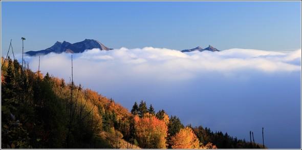 Réunion au sommet - Mer de nuages - Vercors et Chartreuse - 26 octobre 2011