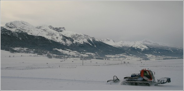 Lans en Vercors - 3 décembre 2010 - Premier damage des pistes de ski de fond