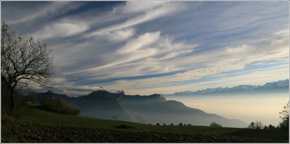 Chartreuse, Grenoble et Belledonne depuis le Vercors - 3 novembre 2010