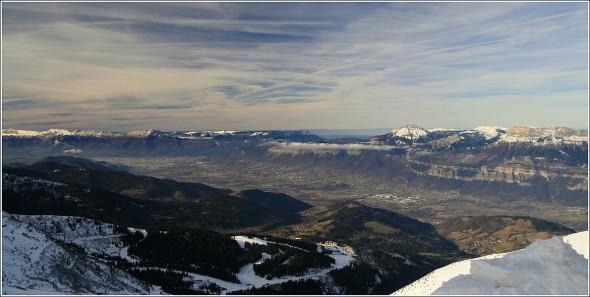Vallée du Grésivaudan et Grenoble depuis les 7 Laux - 14 Janvier 2011