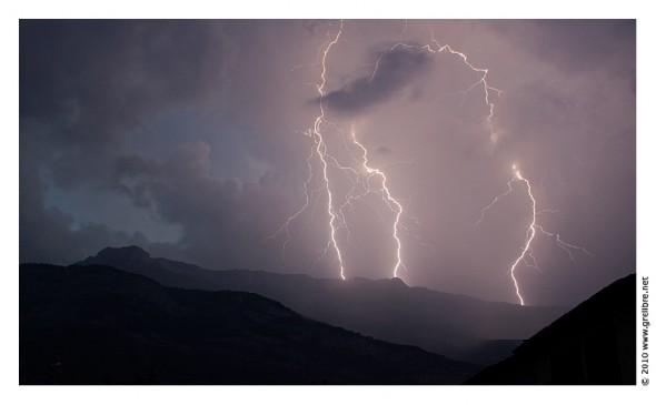 Orage sur Lans en Vercors - 1er Juillet 2010