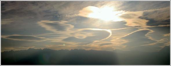 Le ciel de Belledonne depuis le Vercors - 6 octobre 2009