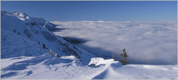 Mer de nuages au dessus de Grenoble, depuis les 7 Laux - 7 février 2010