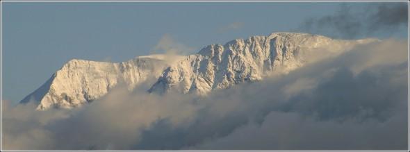 Massif du Taillefer depuis Grenoble - 23 octobre 2009