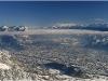 Grenoble, Chartreuse et Belledonne depuis Chatreuse depuis Lans en Vercors - 18 décembre 2010