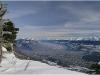 Grenoble depuis les pistes de ski de Lans en Vercors - 23 janvier 2010