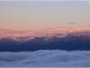 Mer de nuages et nuages lenticulaires sur Belledonne - 10 octobre 2011