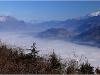 Bauges, Grésivaudan, Belledonne et Mont Blanc depuis Chartreuse - 27 novembre 2011