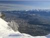 Grenoble et la vallée du Grésivaudan depuis Lans en Vercors - Dimanche 21 février 2010