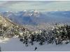 Chartreuse et Grenoble depuis les pistes de Lans en Vercors - 5 décembre 2009