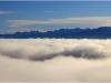 Panorama vers Belledonne depuis le Vercors - 12 octobre 2011