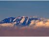 Le Kilimandjaro depuis l\'avion (et au 300mm), à notre départ d\'Arusha ...