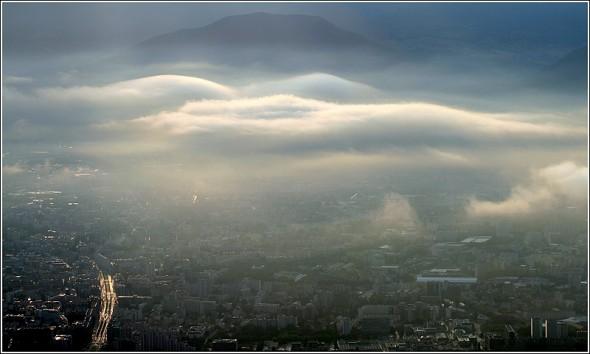 Grenoble depuis le Vercors - 25 août 2009