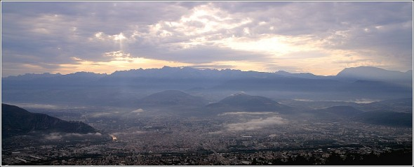 Grenoble depuis le Vercors - 26 août 2009