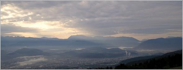 Grenoble Sud depuis le Vercors - 26 août 2009