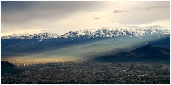 Grenoble et le massif de Belledonne - 8 décembre 2010