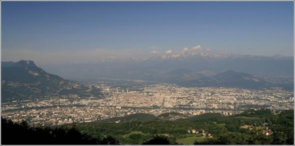 Grenoble depuis le Vercors - 8 juillet 2010