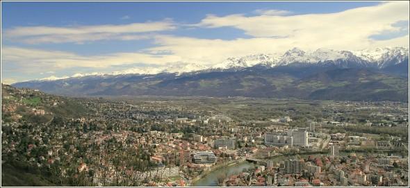 Grenoble et massif de Belledonne - 2 avril 2010