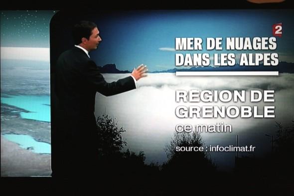 Mer de nuages - Bulletin météo France 2 - 12 octobre 2011