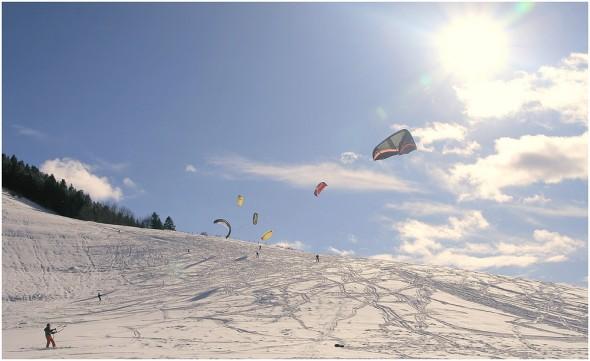 Kitesurf à Lans en Vercors - 30 janvier 2010