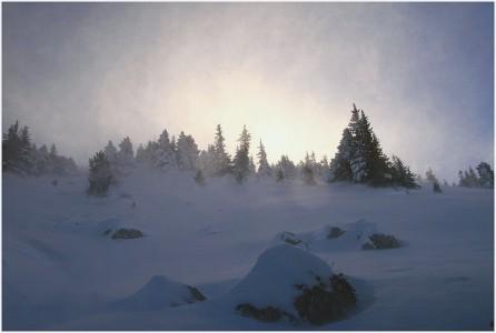 Coup de vent sur les crètes du Vercors - 13 décembre 2008