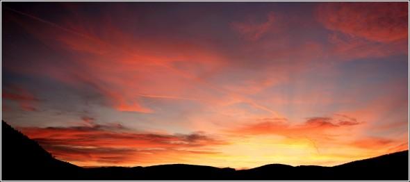 Lans en Vercors - Coucher de soleil du 24 novembre 2009