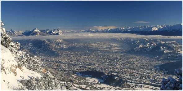 Grenoble depuis Lans en Vercors - 18 décembre 2010