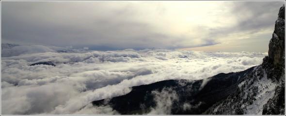 Vercors et Mer de nuages - 8 novembre 2009