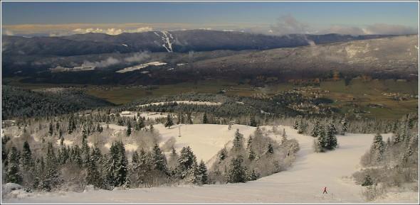 Lans en Vercors depuis les pistes de ski - 8 novembre 2009