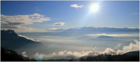 Grenoble depuis le Vercors - 3 avril 2009