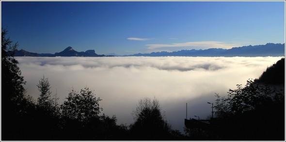 Mer de nuages - Vercors, Chartreuse, Mont-Blanc et Belledonne - 12 octobre 2011
