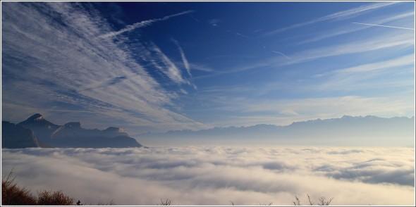 Chartreuse et Belledonne - Mer de nuages - 28 novembre 2011