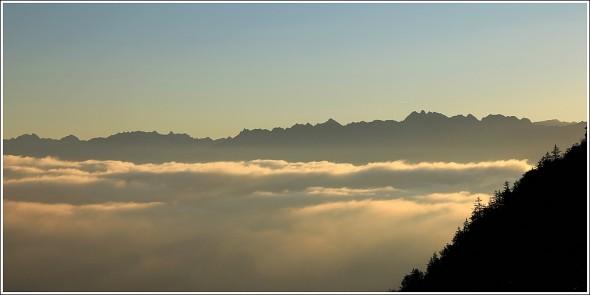 Mer de nuages - Belledonne depuis le Vercors - 5 octobre 2011 - 8h05