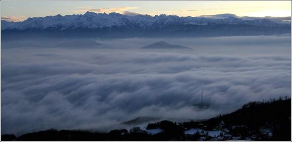 Mer de nuages au dessus de Grenoble - vendredi 29 janvier 2010 - 8h13