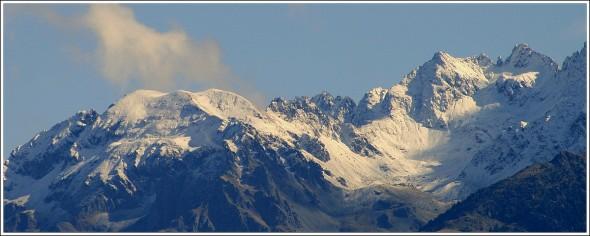 Massif de Belledonne depuis Grenoble - 22 octobre 2009
