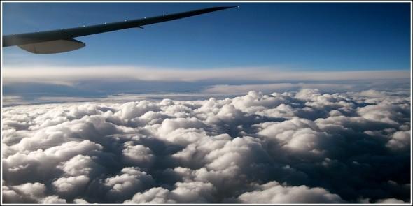 Retour sur la France, la tête au dessus des nuages ...
