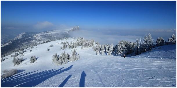 Pistes de ski de Lans en Vercors - 12 février 2012