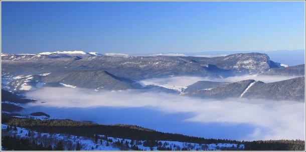 Villard de Lans et plateau du Vercors depuis les pistes de Lans - 18 février 2012