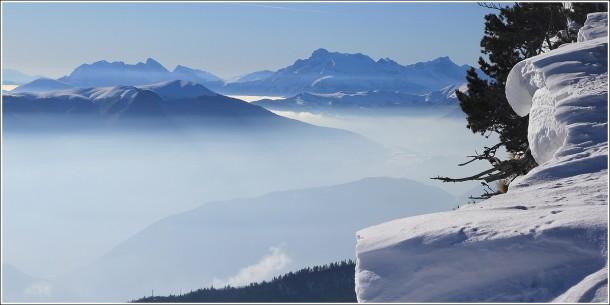Obiou (Hautes Alpes) depuis les pistes de Lans en Vercors - 18 février 2012