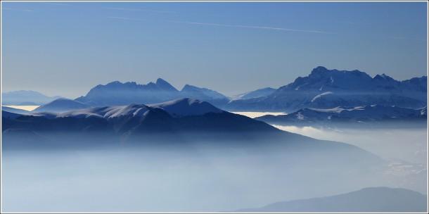 Zoom sur l'Obiou dans les Hautes Alpes - Vercors - 18 février 2012