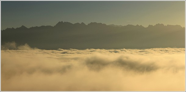 Mer de nuages - Grenoble et Belledonne - 25 octobre 2012