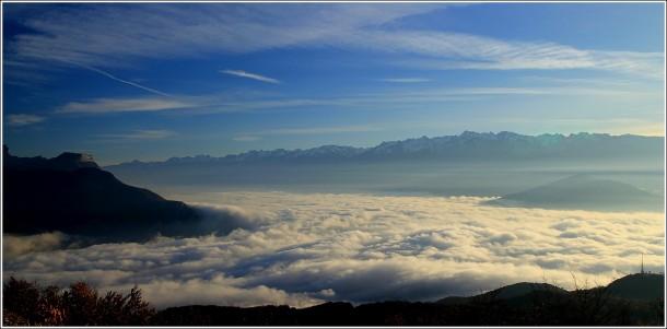 Mer de nuages sur Grenoble - 19 novembre 2012