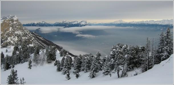 Vercors, Chartreuse, Mont Blanc, Belledonne et Grenoble - 22 décembre 2012